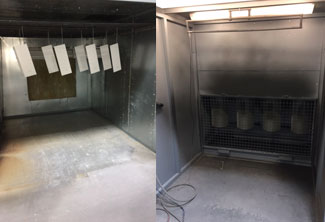 CSE new powder coating room